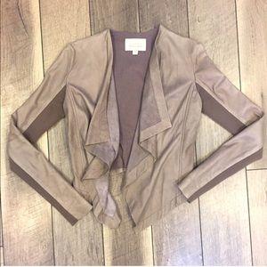 Hinge Drape waterfall leather jacket Nordstrom